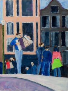 Sold.  Tango Amsterdam Nl. 40x30 cm acryl board