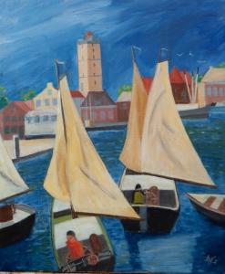 Fantasy Terschelling Nl. 60x50 cm acryl canvas