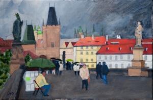 Carlsbridge Prague Tjechie 40x60 cm acryl canvas