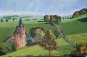 Chateau Beusdael Rekem Be. 40x60 cm acryl canvas