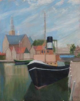 Furie Maassluis Nl. 50x40 cm acryl canvas