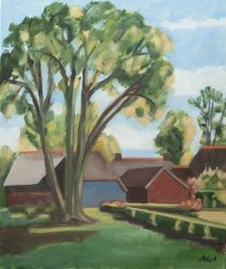 Drente Nl. 60x50 cm acryl canvas