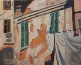 Facciata Toscane It. 40x50 cm acryl canvas