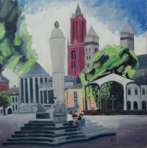 Frythof Maastricht Nl. 50x50 cm acryl canvas