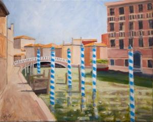 Fundamenta de la Cabia Venice It. 40x50 cm acryl canvas