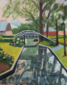 The Three Bridges Giethoorn Nl. 50x40 cm acryl canvas