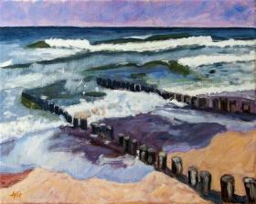 In the footsteps of Piet Mondriaan in Domburg 40x50 cm acryl canvas