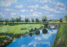 Dutch landscape 50x60 cm acryl canvas