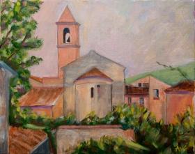 Indian summer in San Donato Toscane It 40x50 cm acryl canvas