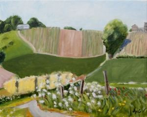 Jekerdal near Maastricht Nl. 40x50 cm acryl canvas