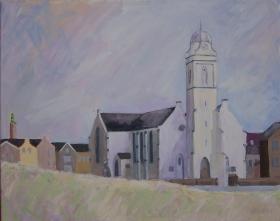 Andreas Church Katwijk Nl. 40x50 cm acryl canvas