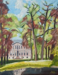 Sold. Estate Hackfort Vorden Nl. 50x40 cm acryl canvas