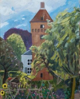 Estate Poelwijk Gendt Nl. 50x40 cm acryl canvas