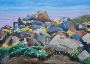 landscape Naxos Gr. 50x70 cm acryl canvas