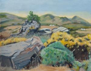 landscape Naxos Gr. 40x50 cm acryl canvas