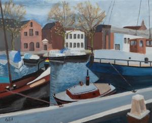 Port of Vlaardingen Nl. 40x50 cm acryl canvas
