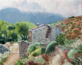 Ruine Karphenthos Gr. 40x50 cm acryl canvas