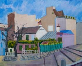 Lapin agille Paris Fr. 40x50 cm acryl canvas