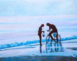 Atlantic coast Fr. 40x50 cm acryl canvas
