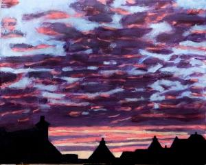 Sunset 40x50 cm acryl canvas
