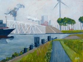 Maeskantkering Maassluis Nl. 30x40 cm acryl canvas