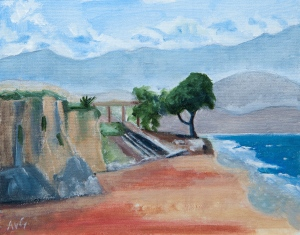 Megas Kalos beach Kefalonia Gr. 30x40 cm acryl board