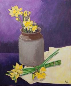 Daffodils acryl canvas