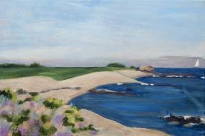 Ommonville Normandy Fr. 40x60 cm acryl canvas