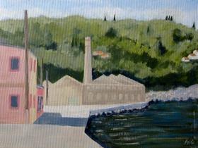 Soap factory Loggos Paxos Gr. 30x40 cm acryl canvas