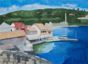 Port of Loggos Paxos Gr. 30x40 cm acryl board