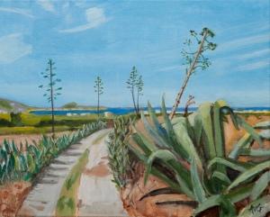 Agave landscape Naxos Gr. 40x50 cm acryl canvas