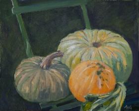 Pumpkins 40x50 cm acryl canvas