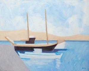 Bay Agia Anna Naxos Gr. 40x50 cm Acryl canvas