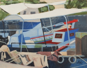 Port - Gaios Paxos Gr. 40x50 cm acryl canvas
