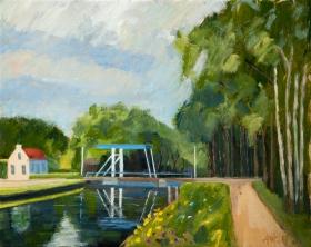 Postel Belgium 40x50 cm acryl canvas