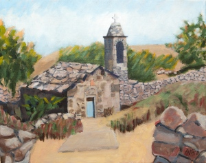 Old Chapel in the Provence Fr. 40x50 m acryl canvas