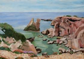 Red rocks Karpenthos Gr. 50x70 cm acryl canvas