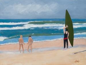 Beach s'Gravenzande Nl. 30x40 cm acryl board