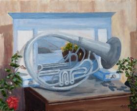 Still Tuba on Samos Gr. 40x50 cm acryl canvas