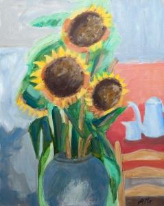 Sunflowers 50x40 cm acryl canvas