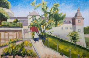 Garden Chateau Neercanne near Maastricht Nl. 40x60 cm acryl canvas