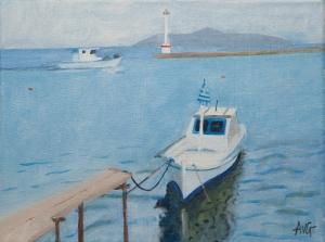 Port  Limenas Thassos Gr. 30x40 cm acryl canvas
