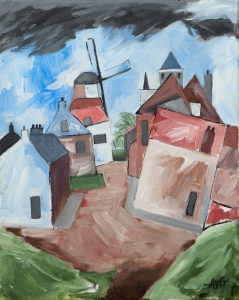 Willemstad Nl. 50x40 cm acryl canvas