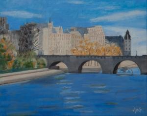 Novenber in Paris 40x50 cm acryl canvas