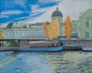 Pont des Arts Paris 40x50 cm acryl canvas