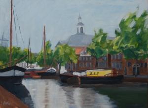 Lange haven Schiedam 30x40 cm acryl canvas