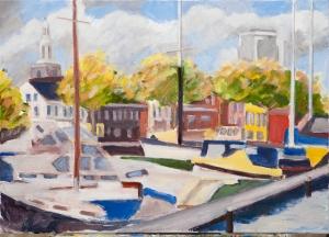 View on Vlaardingen 50x70 cm acryl canvas