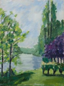 View over the loire Fr. 40x30 cm acryl canvas