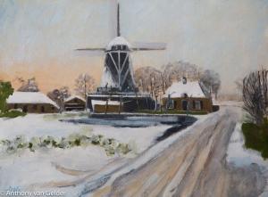 Sold. Winter in Zalk 30x40 cm acryl board