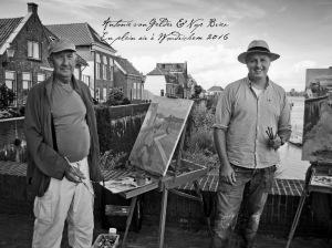 Antonie and Nop Briex pleinair in Woudrichem Nl.